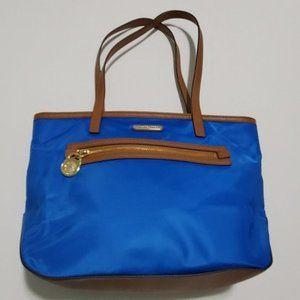 Michael Kors nylon tote Kempton turquoise blue NEW